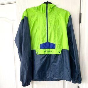 Mens Lightweight Columbia Pulllover 3/4 Zip Jacket